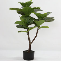 90CM Rubberized Fiddle Tree with plasic pot